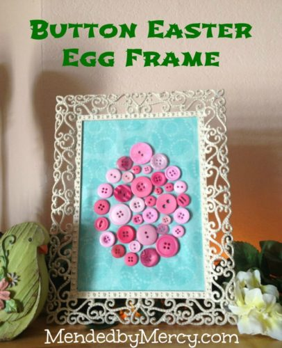 Button Easter Egg Frame