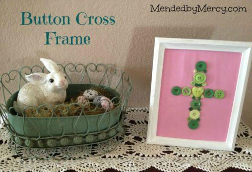 Easter Button Cross Frame