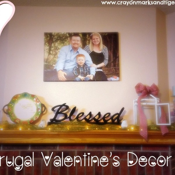 Frugal Valentine's Day Decor