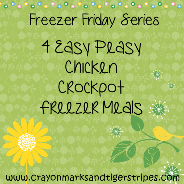 Freezer Meal Friday- Chicken Crockpot Freezer Meals