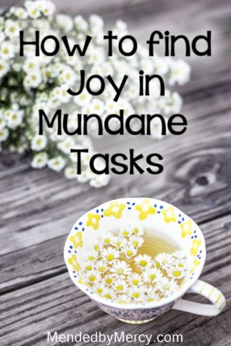 How to find joy in the mundane tasks