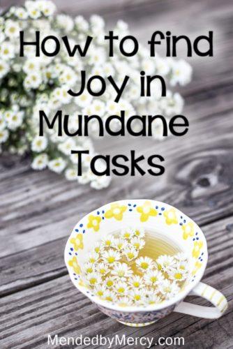 How to find joy in the mundane tasks