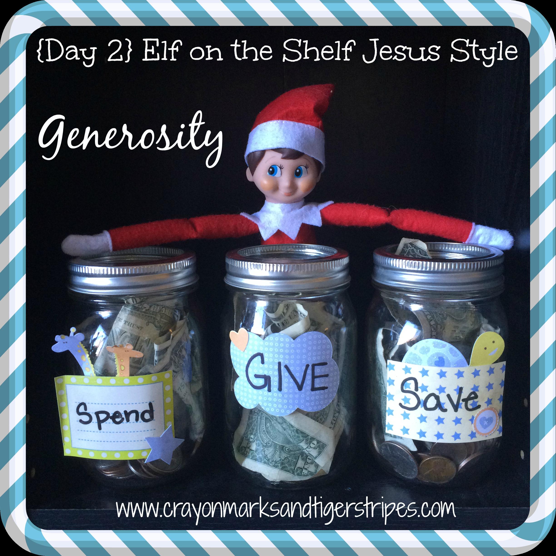 Elf On The Shelf Jesus Style Biblical Virtues Generosity