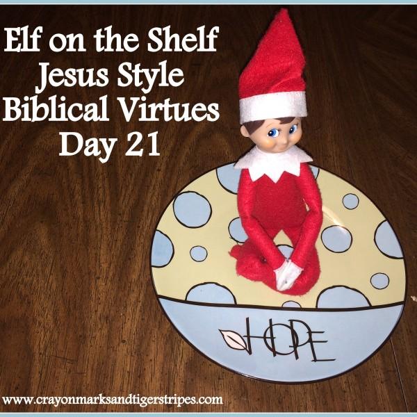 Elf on the Shelf Jesus Style Biblical Virtues: Hope