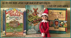 Elf on the Shelf Jesus Style Biblical Virtues Love for God's Word