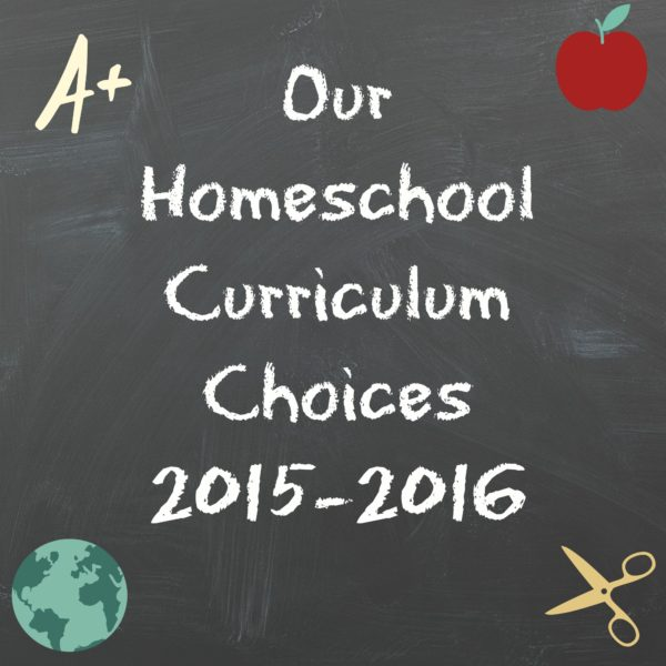 Our Homeschool Curriculum choices {2015-2016}