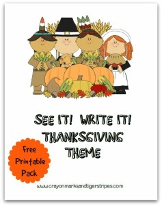 See it! Write it! Thanksgiving Printable Pack FREE