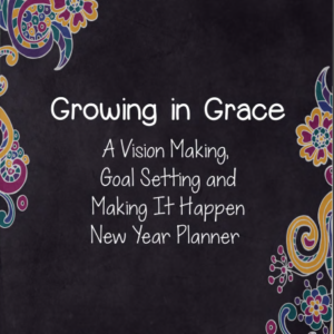 Growing in Grace New Year Planner